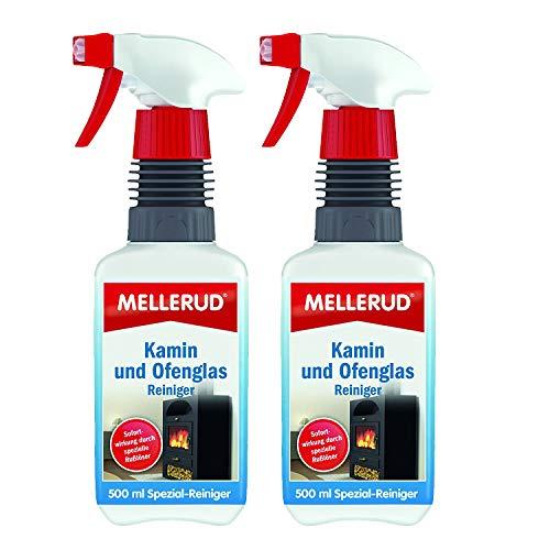 2 x MELLERUD Kamin und Ofenglas Reiniger Sprühpistole 500ml