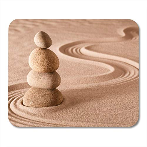 Mouse Pads Zen Meditation Garden Stack of Stones Relaxation and Through Mouse Pad for notebooks Desktop Computers mats Office Supplies