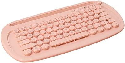 QQSGBD Bluetooth-Tastatur 2 4 GHz Wireless-Tastatur BT Ergonomische Tastatur Dual-Mode-Design-Hintergrundbeleuchtung Bluetooth-Tastatur Farbe Pink Schätzpreis : 98,99 €