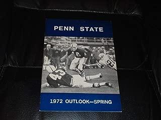 1972 PENN STATE SPRING COLLEGE FOOTBALL MEDIA GUIDE NR MINT BOX 36