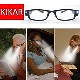 KIKAR - Gafas de lectura con luz LED con estuche...
