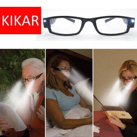 KIKAR LED licht Leesbril met Stevige stijlvolle Case - Verbeter je visie, zelfs in het donker! Beschikbare Dioptre +1.0, 1.5, 2.0, 2.5, 3.0 300