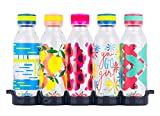 Reduce WaterWeek Reusable Water Bottles Set, 20oz – 5 Plastic Refillable Water Bottles Plus Fridge Tray For Your Reusable Water Bottle Set – BPA-Free, Leak Proof Twist Off Cap – You Go Girl