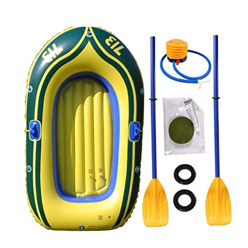 Kayak inflable kayak ecursion 2-persona establece con 2 remos y bomba de pie aire de gran alcance - los pescadores y deportistas aficionados se sientan en el viaje de la isla de peso ligero barco de p
