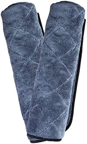 Adam's Double Jumbo Plush Drying Towel 33 x 29 inches 1500 GSM - The Most Absorbent Microfiber Drying Towel You Have Ever Used (1 Pack)