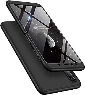 LEECOCO Samsung Galaxy A9S Case Ultra Thin 3 in 1 360 Degree Full Body Case Premium Slim Shockproof Hard PC Plastic Anti-Scratch Bumper Cover for Samsung Galaxy A9 2018 3 in 1 Black AR