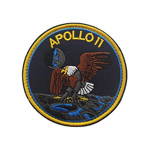 Parche bordado de la NASA Apollo 11 con emblema de aterrizaje de la luna, emblema bordado, para coser en motocicleta, para viajes, mochila, sombreros, chaquetas
