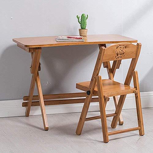 Mesitas casa plegable de madera escritorio de la tabla mesa portátil plegable al aire libre casa de bambú, apto para todos los lugares de trabajo,90 * 50cm