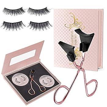 Magnetic Eyelashes Glue-free Magnetic Eyelashes Clip with 2 Pairs Soft Magnetic False Eyelashes - Natural Looking Set