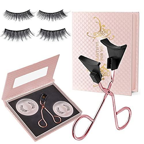 Magnetic Eyelashes Kit, Glue-free Magnetic Eyelash Clip & False Eyelashes Set, Soft Magnetic Eyelashes, Natural Look