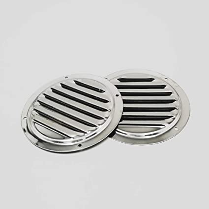"""Genuine 5/"""" Round Louvre Air Vent Grille Cover Deck Premium Grade Stainless Steel"""