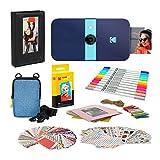 KODAK Smile Instant Print Cámara digital (azul) marco de fotos con funda suave