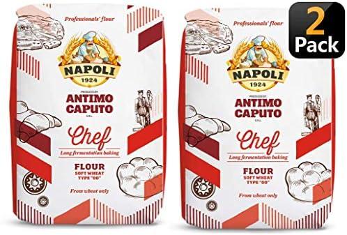 Antimo Caputo Chefs Flour 2.2 LB (Pack of 2) - Italian Double Zero 00 - Soft Wheat for Pizza Dough, Bread, & Pasta