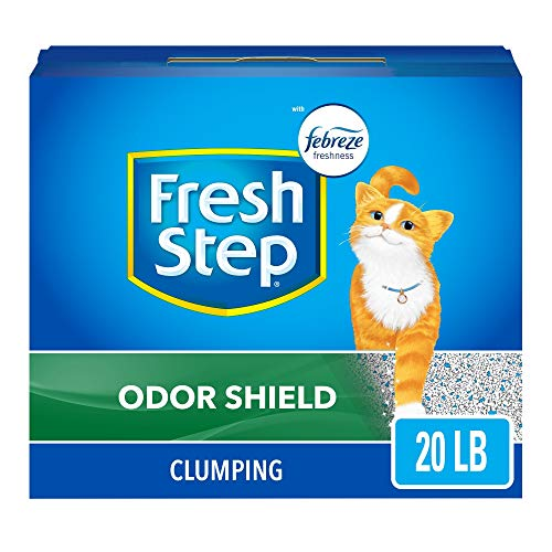 Fresh Step Cat Litter Odor Shield Scoopable, Scented, 20 Pound Carton (30393)
