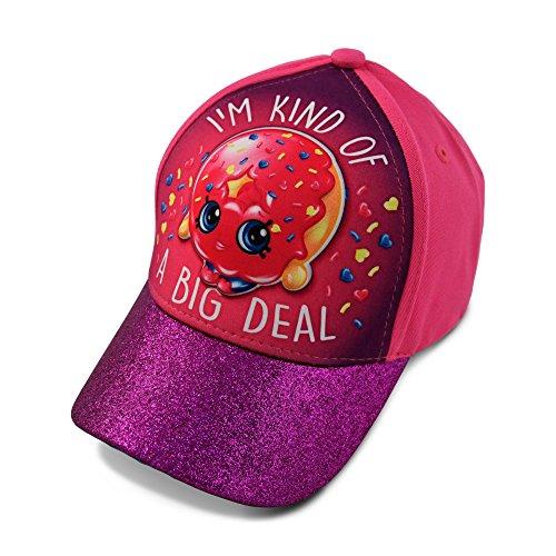 Shopkins Little Girls D'Lish Donut Character 3D Pop Baseball Cap, Pink/Purple, Age 4-7
