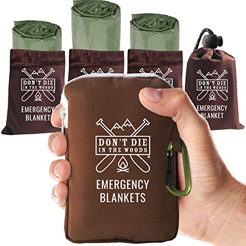 Our #3 Pick is the Don't Die in the Woods Emergency Blanket