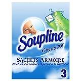 Soupline Sachets Armoire Parfum grand Air Parfume Le Linge Pendant 6 Semaines, 3 unités