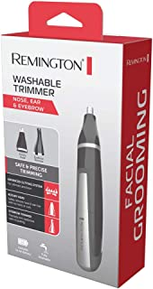 Remington Washable Nose, Ear and Eyebrow Trimmer/Groomer, Black