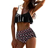 Women's Bathing Suit Halter One Piece Front Cross Backless Swimsuit Tummy Control Swimwear Plus Size Underwired Wine