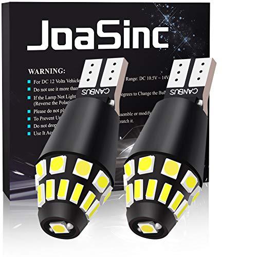 JoaSinc 2x T15 W16W Canbus 921 912 LED Bombillas 22SMD 4014, para Coche Luz de Estacionamiento Copia de Seguridad Luz de Marcha Atrás Bombilla, 12V Blanco 6500K, 2 piezas, Garantía de 1 año