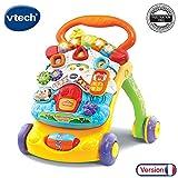 VTech - Super Trotteur Parlant 2 en 1 Orange – Trotteur interactif pour apprendre...