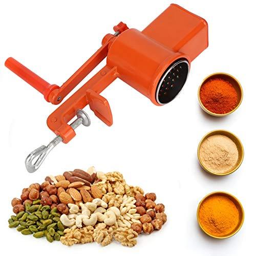 Molinillo de grano, Mano de arranque Manual Amoladora de Aleación de Aluminio Fresadora para Nueces Granos de Maíz de Trigo de Avena