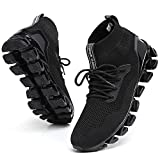 TSIODFO Sneakers for Men Sport Running Shoes Athletic Tennis Walking Shoes Jogging Fashion Sneaker Mesh Breathable Black Size 9.5