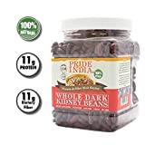 Pride Of India - Indian Whole Dark Kidney Beans - Protein & Fiber Rich Rajma, 1.5 Pound Ja...