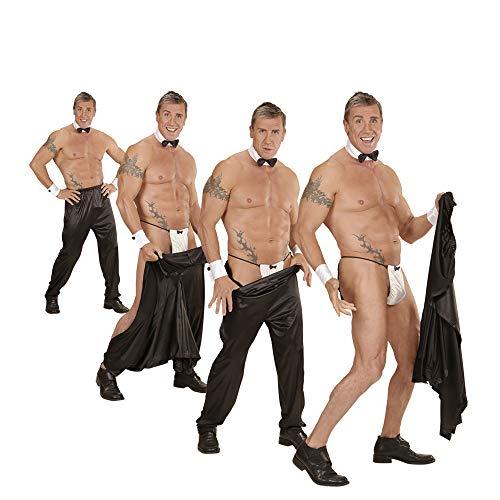 Widmann 80965 - Stripperhose, mit Klettverschluss, schwarz, Kleidungsstück, Erwachsenenkostümzubehör, Junggesellinnenabschied, Mottoparty, Karneval