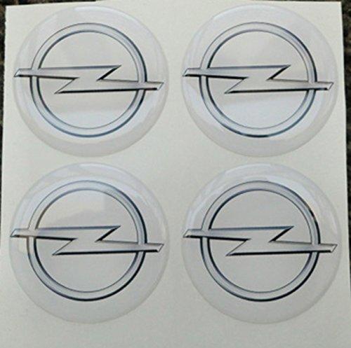 50mm blanco Tuning Efecto 3d 3m resinato coprimozzi Tachuelas Caps pegatinas stickers para círculos de aleación x 4unidades)