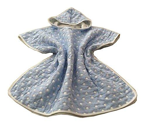 Coton doux coton capuchon serviette de bain peignoir pour les enfants Dot Blue