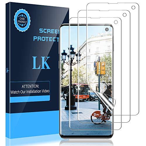 LK Schutzfolie kompatibel mit Samsung Galaxy S10, 2 Stück Samsung Galaxy S10 Folie, Klar HD Weich TPU Displayschutzfolie Vollständige Abdeckung Blasenfreie LK-X-24