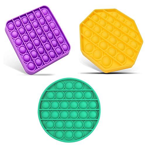 Ideal Swan 3 Pezzi Push Pop Pop Bubble Sensory Fidget Toy Estrusione Giocattoli per Alleviare lansia Antistress per Autismo Giocattoli Educativi