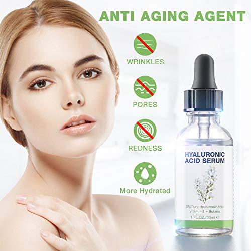 51mo0BeyTWL - Hyaluronic Acid Serum for Skin - 100% Pure Organic HA, Anti-Aging Face Serum for Dry Skin, Fine Lines. Hydrating, Repairing, Replumping, Suitable for Sensitive Skin, 1 Fl. Oz