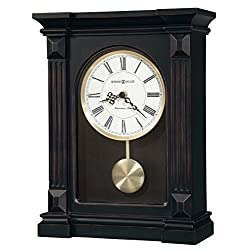 Howard Miller Mia Mantel Clock 635-187 – Worn Black with Quartz, Single-Chime Movement