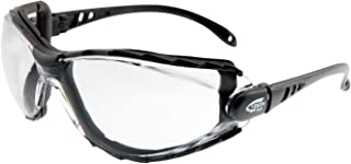 Vision Safe 125FBKCLAF-S Seal 125 Positive Seal Safety Glasses, One Size, Clear