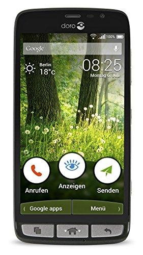 Doro Liberto 825 LTE Smartphone (12,7 cm (5 Zoll) Touch-Bildschirm, 8 GB Speicher) schwarz