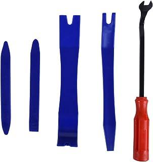 Wakauto 5 peças kit de ferramentas de remoção de aparamento automático, painel de porta, CD alto-falante, ferramentas de r...