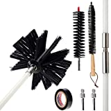 30 Feet Dryer Vent Cleaner Brush Kit ,Flexible Chimney Cleaning Brush Kit,Fireplace Chimney Brushes Kit,Dryer Duct Cleaning Kit,Lint Remover,Synthetic Brush Head,Use with or Without a Power Drill