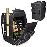 ENHANCE Board Game Backpack - Reinforced Board Game Storage with Padded Shoulder Straps, Carrying Handle and Accessory Pockets for Dice, Card Games and More - Fits Board Games