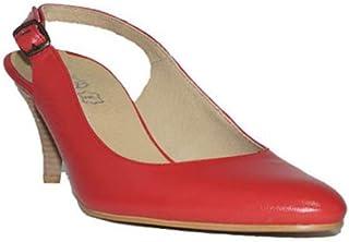 58659eaa Flex Technology - HRD Tacón Fino Zapatos Mujer Tacón Medio Piel Fino Fiesta  Vestir Elegante Confort
