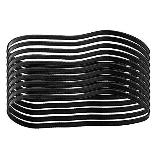 10PCS Black Heavy Duty Elastic Rubber Bands Multi-Purpose Large Strong UV Reistant Rubber-Bands Trash Can Band Wide Rubber Loop Damping Bands for Office File Folder Home Fishing Hiking