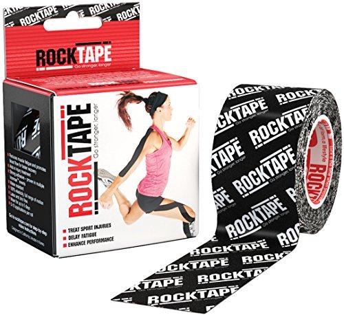 RockTape Kinesiology 2 Zoll Roll Support Tape - Schwartz