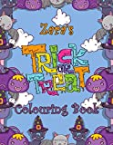 Zara's Trick Or Treat Colouring Book: Zara Personalised Custom Name Halloween Colouring Activity - 8.5x11 - Magical Cats and Crawlies Theme