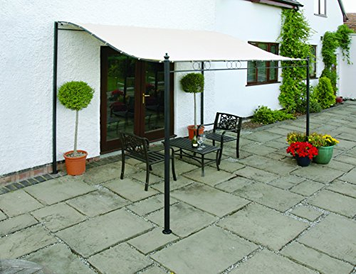 Wall Mounted Gazebo Awning 2.5 Metre Width With Removable Canopy Cover