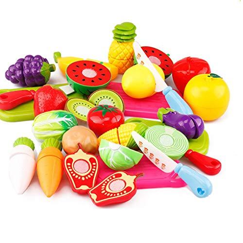 29pcs / set Unique kinderen Kinderen cutting fruit play plantaardig voedsel keuken leren speelgoed