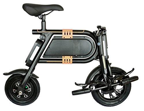 DocGreen E-vouwfiets EK16 elektrische vouwfiets, zwart/oranje, 12/10 inch