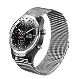 TLF 22 mm for Huawei Reloj GT2e GT2 46mm Milanese Correa de Metal (Color : Silver)