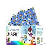 Generic COKKISS 50Pcs Visage_Masques Noël Enfant Jetable 3 Couches Anti-poussière Petite Fille Garcon Visage Foulard Respirant Fantaisie Facial Bandana Extérieur