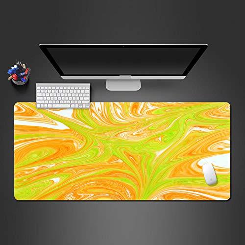 JIACHOZI Alfombrilla XL Color Graffiti Amarillo patrón 800×400×3mm Alfombrilla para Juegos XXL Alfombrilla de ratón para computadora, Adecuada para Grandes Almohadilla de Escritorio,Alfombrilla Gamin